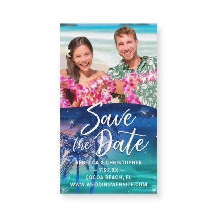 Small Save the Date Magnets Cheap | Beach Wedding