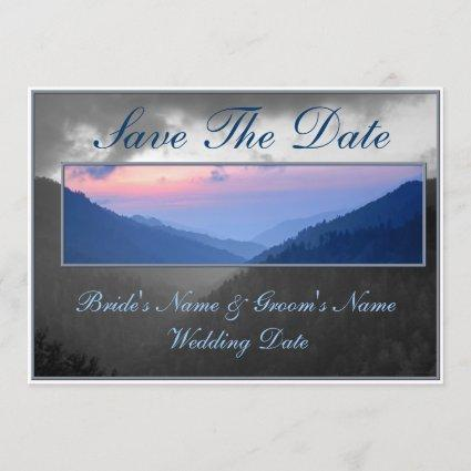 Smokies Mountain Country Sunset Save The Date