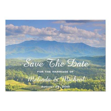 Smoky Mountain Country Wedding Save The Date Magnetic Invitation