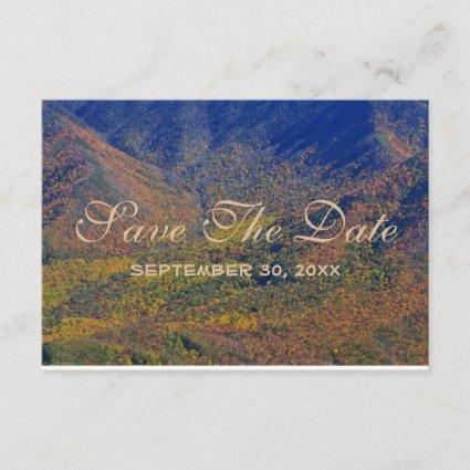 Smoky Mountain Fall Country Wedding Save The Date