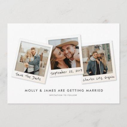 Snapshots Save the Date Card
