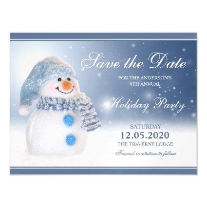 Snowman Christmas Party Invitation Save The Date