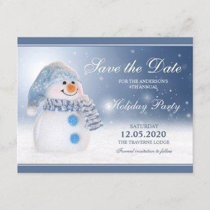 Snowman Party Invitation Save The Date
