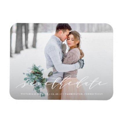 Soft Calligraphy Save the Date Magnets