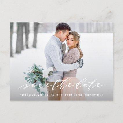 Soft Calligraphy Save the Date Photo