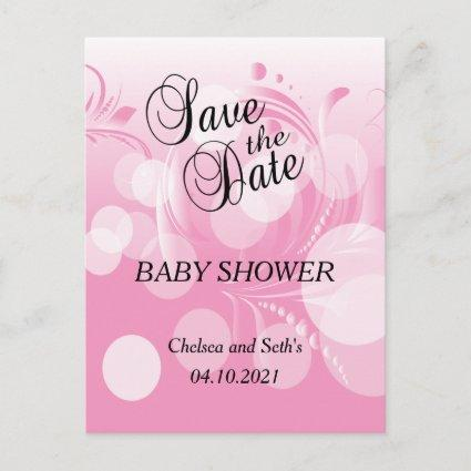 Soft Pink Bokeh Florid | Baby Girl Shower Announcement