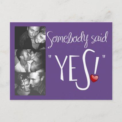 Somebody Said Yes -plum Announcements Cards