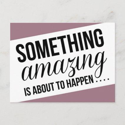 Something Amazing is About to Happen Save the Date Announcement