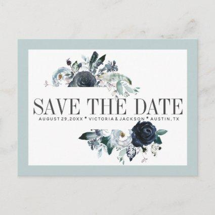 Something Blue | Boho WEDDING SAVE THE DATE Announcements Cards