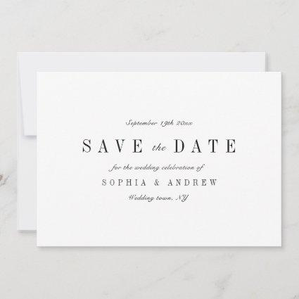 Sophisticated minimalist wedding  save the date