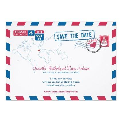 Spanish save the date cards save the date cards spain air mail wedding stopboris Images