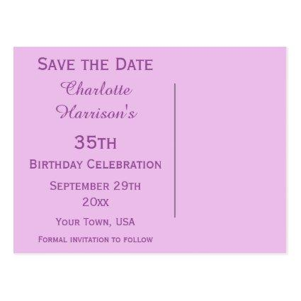 Save The Date 35th Birthday Save The Date Cards Save the Date Cards – Birthday Save the Date Cards