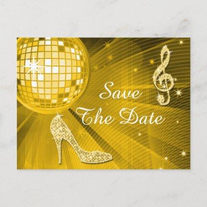 Sparkly Stiletto Heel 60th Birthday Save The Date Announcement