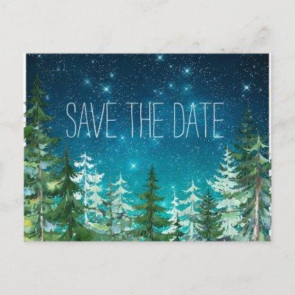 Star Light Night Forest Wedding Save the s