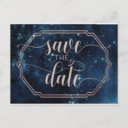 Star Sky Celestial Galaxy Wedding Save the Date Announcement