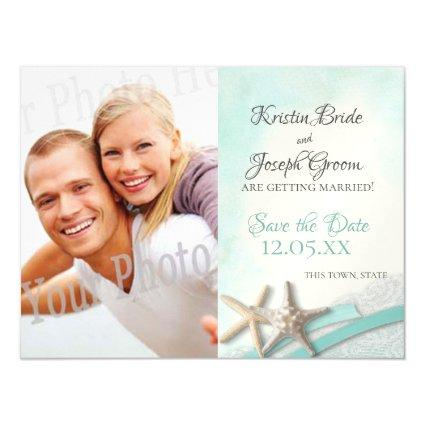 Starfish and Lace Beach Starfish Save the Date Magnetic Invitation