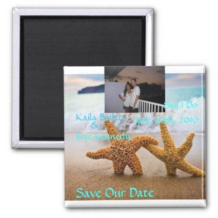 Starfish Beach Save the Date Magnets