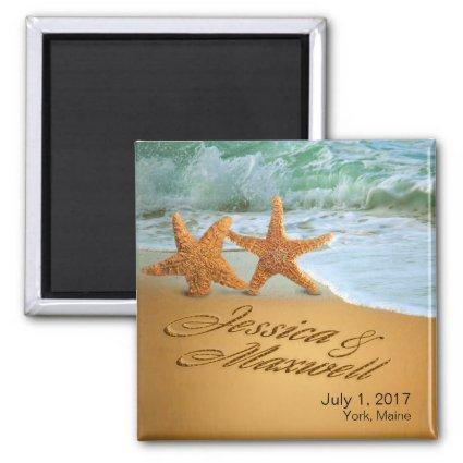 Starfish Couple ASK TO HAVE YOUR NAMES PUT IN SAND Magnet