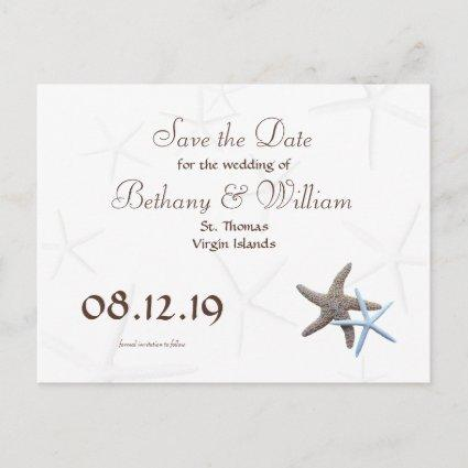 Starfish Couple Save the Date Cards