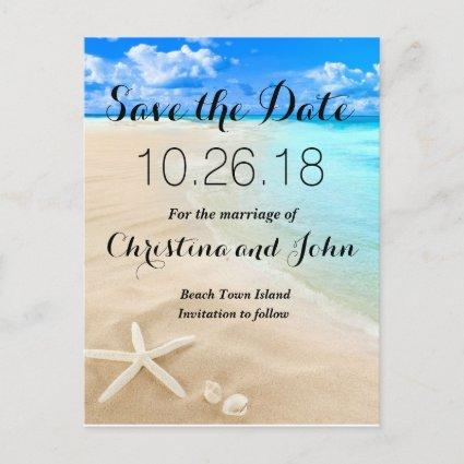 Starfish Destination Beach Wedding Save the Date Announcement