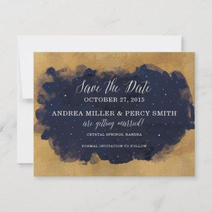Starry Night Celestial Star Save the Date