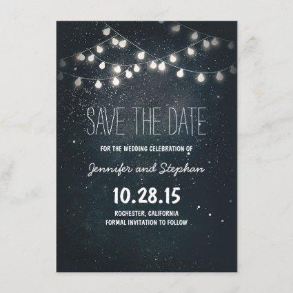 Starry Night String Lights Save the Date