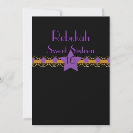 Starry Sky Belted Sweet Sixteen Invitation!-Cust. Save The Date