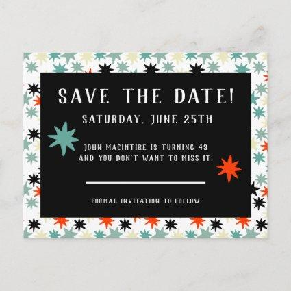 Stars Birthday Party Save The Date Announcement