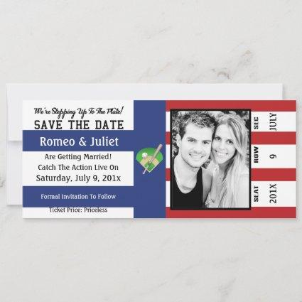 Step To The Plate Baseball Wedding Save The Date