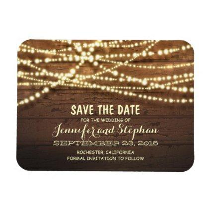 String Lights and Barn Wood  Magnets