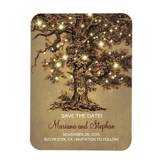String Lights Tree Rustic Save The Date Magnets