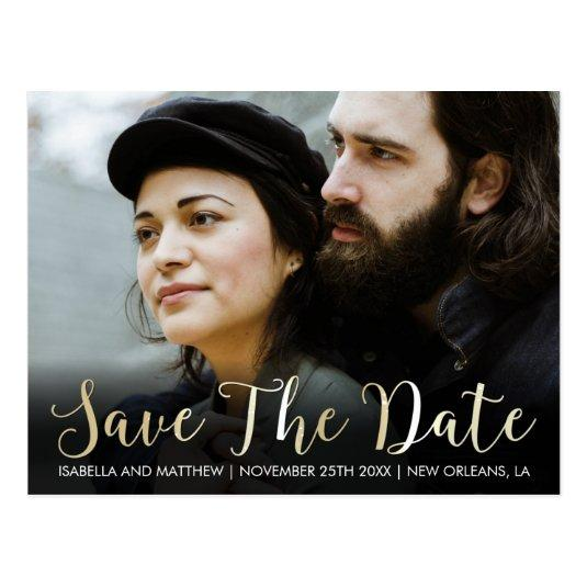 Stylish Bold Champagne Save The Date Image