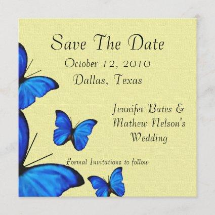 Stylish Butterflies Save the Date Annoucements