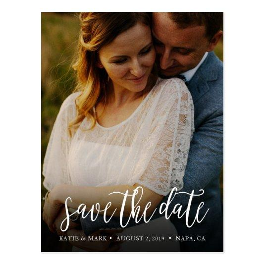 Stylish Handwritten Photo Save the Date Cards