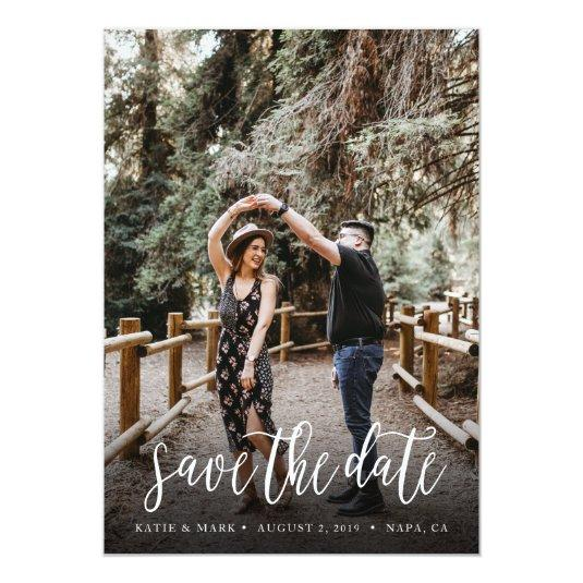 Stylish Handwritten Save the Date Cards