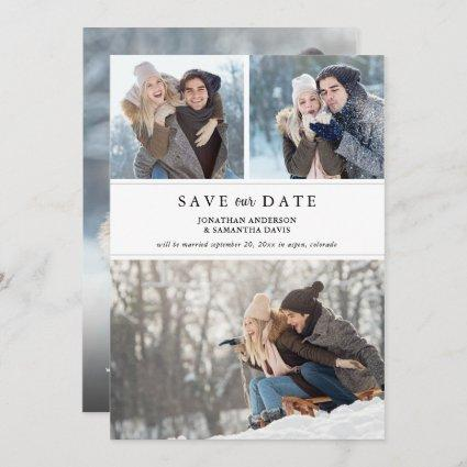 Stylish Modern Photo Collage Save our Date Save The Date