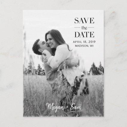 Stylish Modern Photo Save the Date Custom Cards