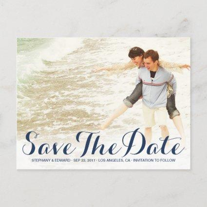 Stylish Modern Save The Date Custom Photo Cards