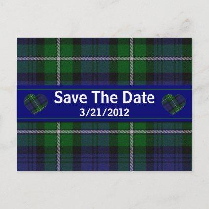 Stylish Plaid Save The Date Cards