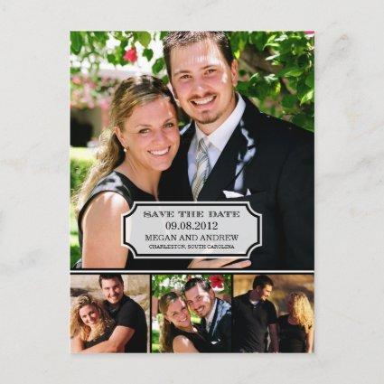 Stylish Tab Save The Date Cards