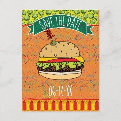 Summer BBQ Save the Date Invitation