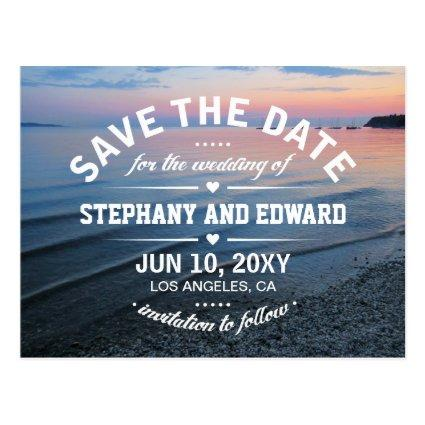 Summer Evening Sunset Sea Save the Date Cards