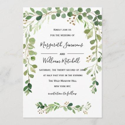 Summer meadow | Watercolor Wedding invitation