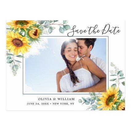 Sunflowers Eucalyptus PHOTO Wedding