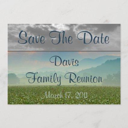 Sunrise Save The Date Family Reunion Announcement