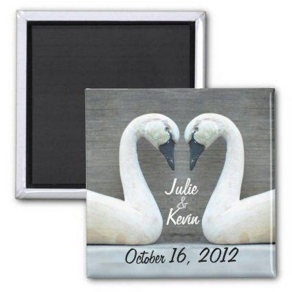 Swan Country Wedding Magnets