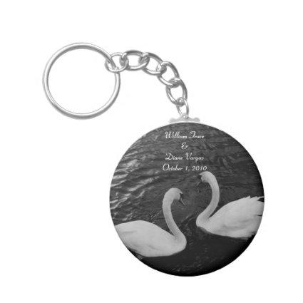 Swan Wedding Keychain