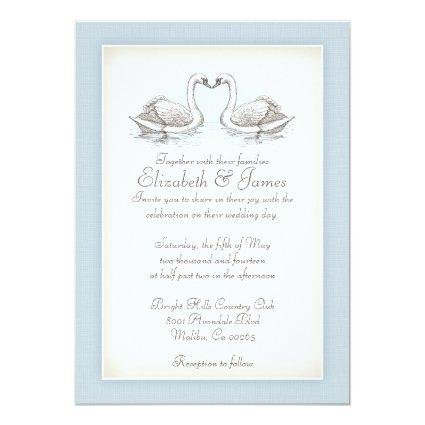 Swans Wedding Invitations