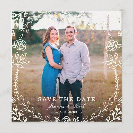 Sweet Floral Photo Save the Date