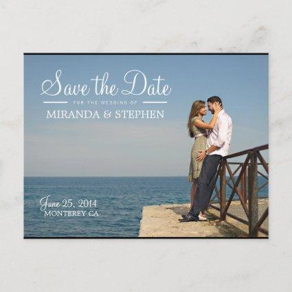 Sweet Modern Wedding Save the Date Photo